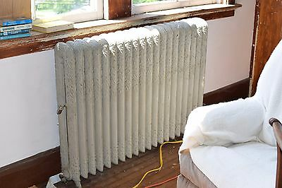 """Antique Vintage American Radiator Rococo Hot Water or Steam Radiator 49"""" 20-Fins"""