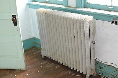 """Antique Vintage American Radiator Rococo Hot Water or Steam Radiator 45"""" 18-Fins"""
