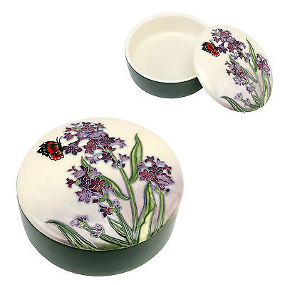 Purple Lavender & Butterfly Design Old Tupton Ware Trinket Box.new & Boxed