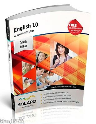 SOLARO Study Guide - Ontario English 10 Academic (ENG2D)