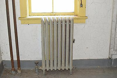 "Antique Vintage American Radiator Rococo Hot Water or Steam Radiator 19"" 8-Fins"