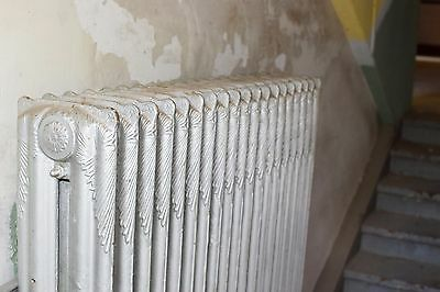 """Antique Vintage American Radiator Rococo Hot Water or Steam Radiator 48"""" 19-Fins"""