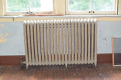 """Antique Vintage American Radiator Rococo Hot Water or Steam Radiator 55"""" 22-Fins"""