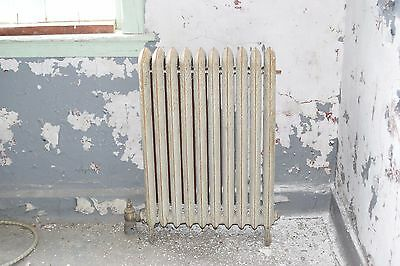 "Antique Vintage American Radiator Rococo Hot Water or Steam Radiator 25"" 10-Fins"