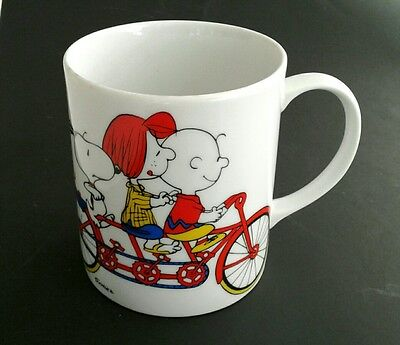 vintage 1966 Peanuts Snoopy Charlie Brown Peppermint Party Woodstock 60s Mug