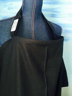 NURSING COVER  Milky Baby  BREASTFEEDING COVER UP dsolid black cotton breathable