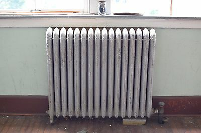 """Antique Vintage American Radiator Rococo Hot Water or Steam Radiator 39"""" 16-Fins"""