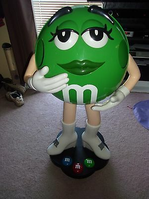 """42"""" Green Lady Female Girl  M&M Candy Character Store Display"""