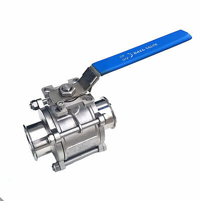 "HFS(R) 3"" Sanitary Ball Valve - Tri Clamp Clover Stainless Steel"