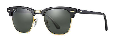 Ray-Ban Clubmaster Polarized Lenses RB3016 901/58 49mm Made in Italy