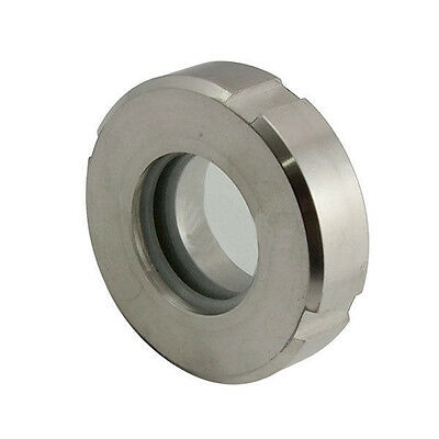 """HFS 1.5"""" Flow Sanitary Sight Glass Tri-Clamp Stainless Steel 304 Weld-On"""