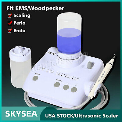 Dental Ultrasonic Piezo Scaler Handpiece Tips Bottles f/ EMS WOODPECKER Portable