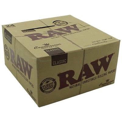 RAW Classic Connoisseur king size slim with tips full box + Free Shipping