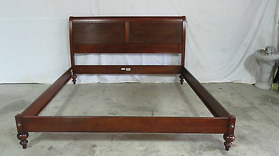 Ethan Allen British Classics Mahogany Sleigh King Bed