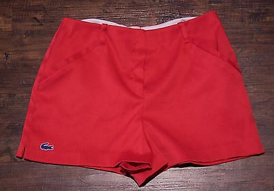Vintage 60s Womens Lacoste Haymaker Red Tennis Short Shorts Size 12