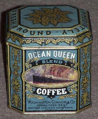 Ocean Queen Coffee Tin, Queen Mary Ocean Liner