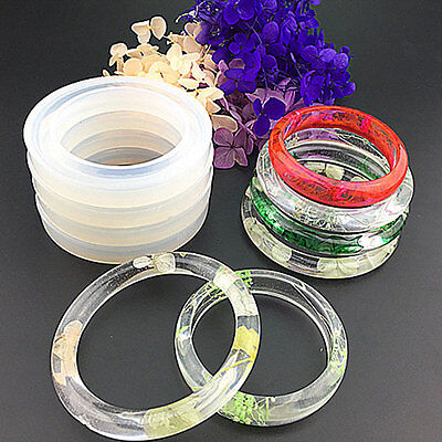 Round Silicone Resin Bracelet Bangle Mould Mold Handmade Jewelry Equipment