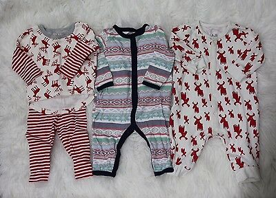 Baby Boys 3-6 Months Baby Gap Tesa Babe Lot Of 3 Christmas Outfits Reindeer