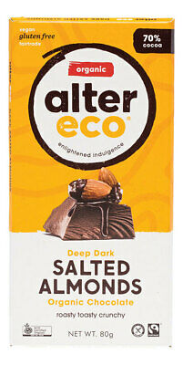Organic Dark Salted Almonds Chocolate 80g - Alter Eco