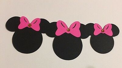 Disney Inspired Minnie Mouse Die Cut Border Handmade Cardstock Embellished