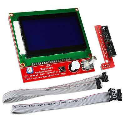 LCD 12864 Graphic Smart Display Controller module with connector adapter & cable
