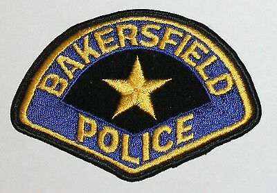 Very Old BAKERSFIELD POLICE Kern County California CA PD Vintage FELT Used patch