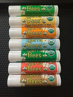 BRAND NEW 100% CERTIFIED SIERRA BEES Organic Lip Balm MADE IN THE USA Vitamin E