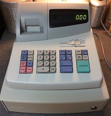 Sharp XE-A101 Electronic LED CASH REGISTER - No Key - Works Great