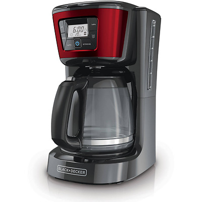 Programmable Coffee Maker Machine Black+Decker 12 Cup Filter Coffee Automatic