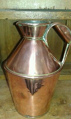 Antique copper jug marked MHD