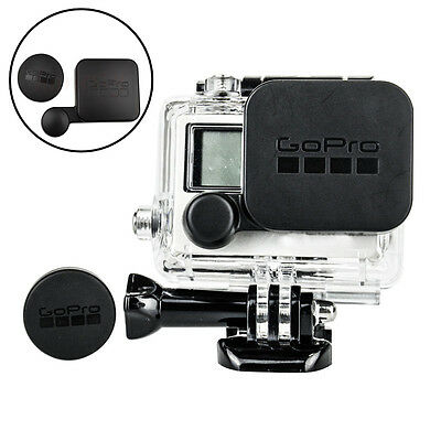 Protective Lens Cap Cover + Housing Case Cover Waterproof for Gopro HERO3 4/3+