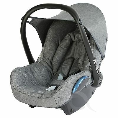 Replacement Seat Cover fits Maxi Cosi CabrioFix 0+ FULL SET modern- GREY MELANGE