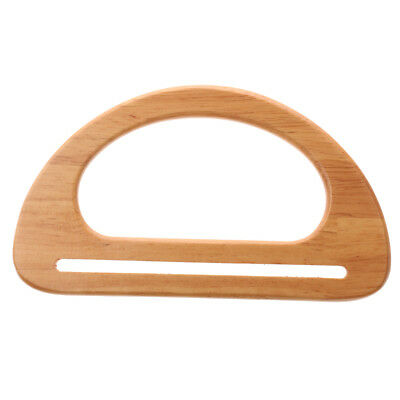 Wooden Purse Handbag Bag Handle Replacement Bag Accessories Natural Color