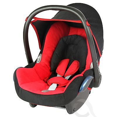 Replacement Seat Cover fits Maxi Cosi CabrioFix 0+ FULL SET red - black