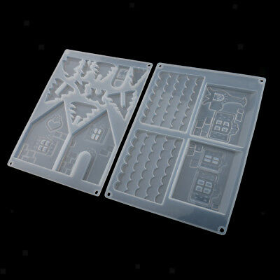 House Mould Silicone Crystal Mold Resin Epoxy Jewelry Ornaments Handcrafts
