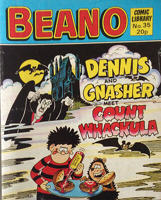 Beano Comic Library 35 Dennis and Gnasher Meet Count Whackula