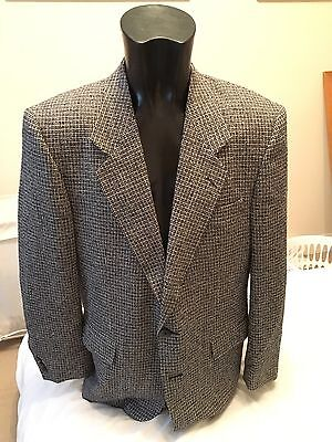 Silk Sports Jacket Size 42r Vintage Harris Skoma