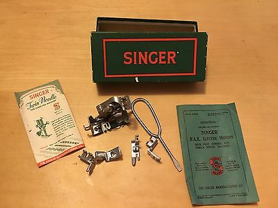 Vintage Singer Sewing Parts 86642, 105251, 105248,189648, 86616 + Manual