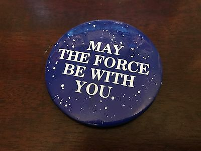 Vintage 1977 Star Wars May The Force Be With You 1977 Original Pinback Button