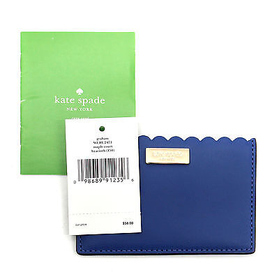 Kate Spade NWT Maple Court Graham Hyacinth WLRU2471 Leather Card Case ID Wallet