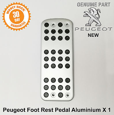 Peugeot Foot Rest Footrest Pedal Brush Steel finish 208 308 Genuine 9646E9 New