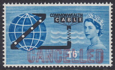 GREAT BRITAIN - 1963 1s6d COMPAC - 'CANCELLED'