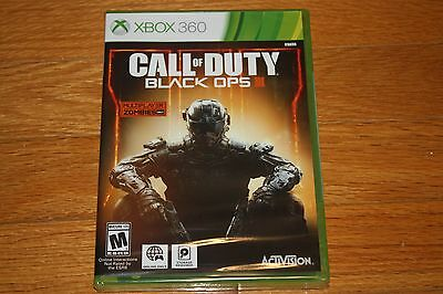 Brand New Factory Sealed Xbox 360 Call of Duty: Black Ops III SHIP FREE US FAST