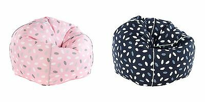 Kids Confetti Design Bean Bag Cover 150L Beanbag Cover Chair Blue Pink