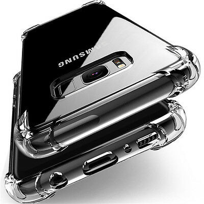 Clear Shockproof Rubber Guard Soft TPU Silicone Cover Case For Samsung Models
