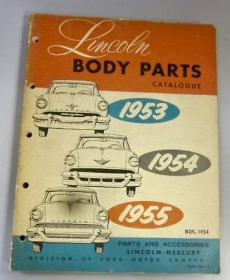 1953 1954 1955 Lincoln Mercury Body Parts and Accessories Catalogue FoMoCo Ford