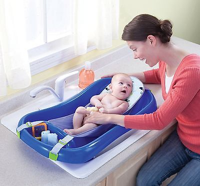 The First Years Sure Comfort Deluxe Newborn To Toddler Tub, Blue Baby Kids new