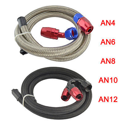 Fuel/Gas Tank/Cell AN Hose Fitting with Stainless Braided Oil/Fuel Line Hose Kit