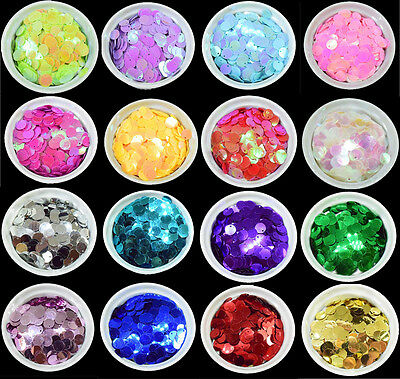 22 COLOURS - 200 Round 10MM Loose Sequin Flat Sewing Trim Costume BU1208