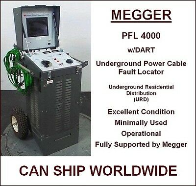 MEGGER PFL 4000 w/DART UNDERGROUND POWER CABLE FAULT LOCATOR - BIDDLE - URD